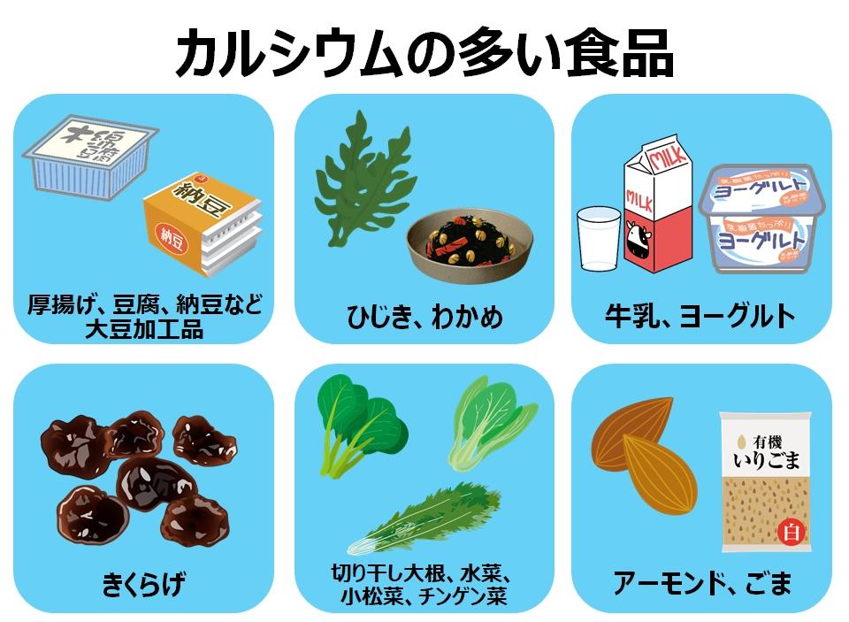 カルシウムの多い食べ物