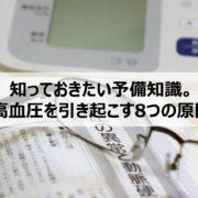高血圧予防の予備知識の見出し