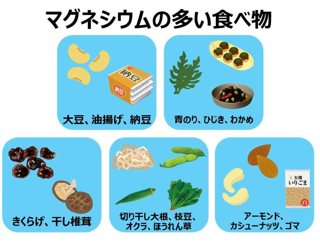 多い 食品 マグネシウム マグネシウムとは?効果・摂取量・含まれる食品を丁寧に解説