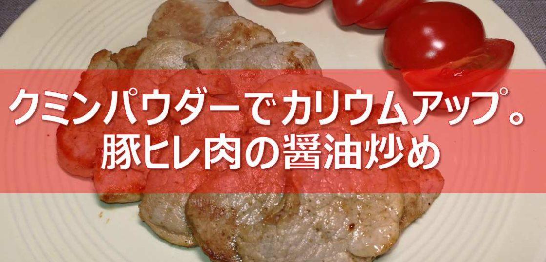 豚ヒレ肉のクミン焼きの見出し