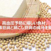 豆腐の成分紹介の見出し