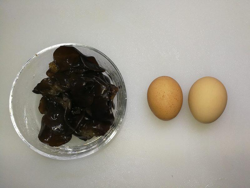 キクラゲと卵の材料一覧