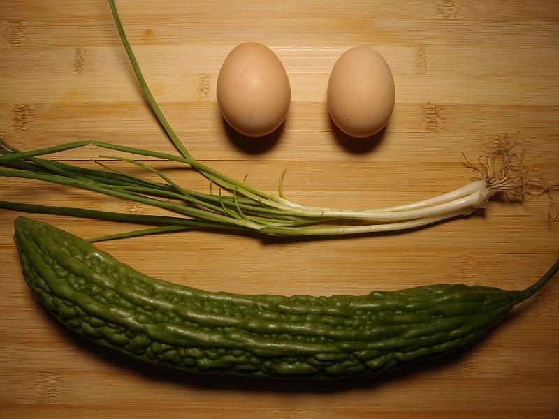 苦瓜と卵とじの材料一覧