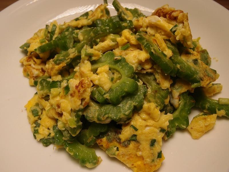 卵と苦瓜の炒め物完成