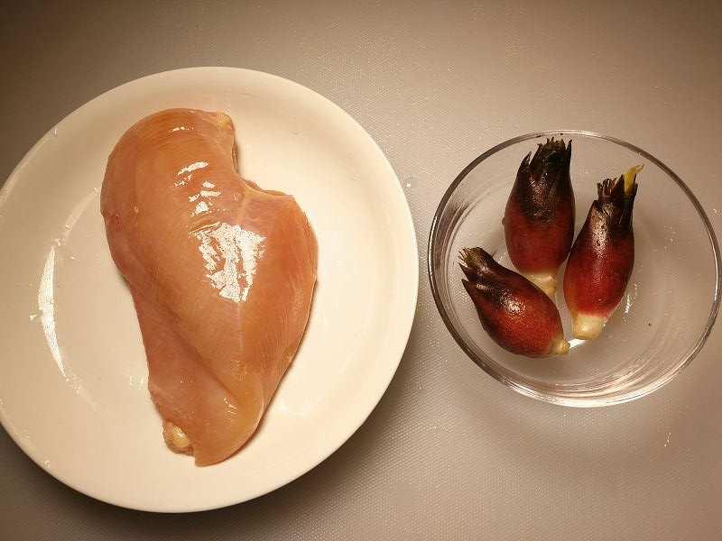 ミョウガと鶏むね肉の和え物一覧